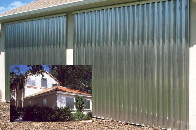Tampa Metal Hurricane Panels