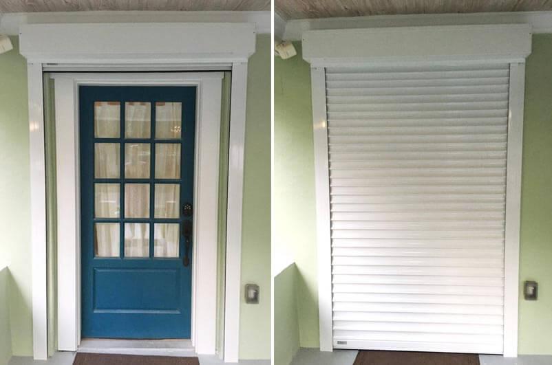 Tampa Front Door Rolling Shutters