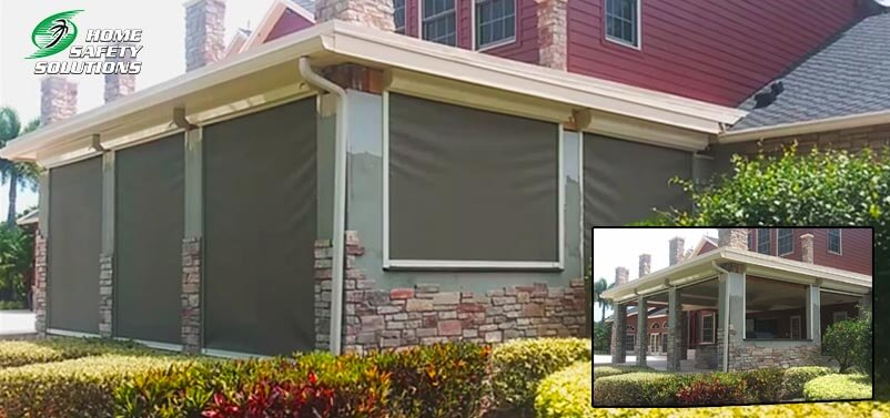 Remote Controlled Hurricane Screen Installations